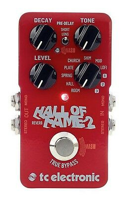 TC Electronic Hall of Fame 2 Reverb Effect Reverb Pedal for Guitar