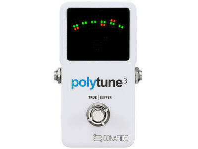 TC Electronic Polytune 3 Tuner Polyphonic for Guitar and Bass with Buffer