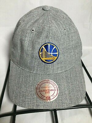 uk availability 8d075 69912 Golden State Warriors Mitchell   Ness Heather Gray Slouch Dad Adjustable Hat