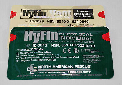 New Usmc Hyfin Chest Seal Combo Pack Nar North American Rescue Unexpired