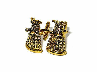 Doctor Who Dalek Robot Cufflinks Antiqued Gold Plated Best Quality!! Exterminate