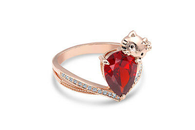 c5f2e058a Hello Kitty Fragrant Jewels Sold Out Licensed Rose Gold Plated Cz Ring Size  8