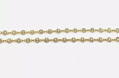 b94c1a027 Tiffany & Co. Elsa Peretti By The Yard 18k Gold And Diamond Necklace 6.25  CTW