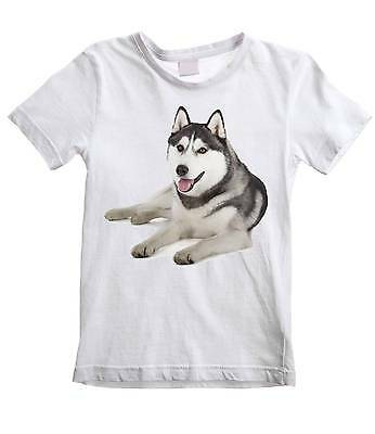 SIBERIAN HUSKY KIDS T-SHIRT - Dog Dogs Pet Sibe - Ages 3 to 12