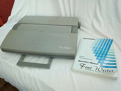 Sharp Font Writer Personal Word Processor (Typewriter) FW-750 With Floppy Drive