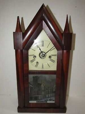 Antique Beach & Byington Terryville, Conn. Usa Triple Fusee Clock With Alarm