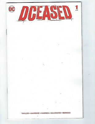 Dceased # 1 Of 6 Blank Variant Deceased Dc Comic - Nm