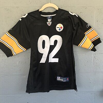 2f64f425c88 Pre Owned Reebok Pittsburgh Steelers Jersey James Harrison  92 Authentic NFL   48
