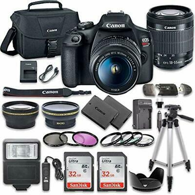 Canon EOS Rebel T7 DSLR Camera Bundle w/ Canon EF-S 18-55mm f/3.5-5.6 is II Lens
