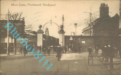 Main Gates Portsmouth Dockyard By A.C.R & Co posted 1922