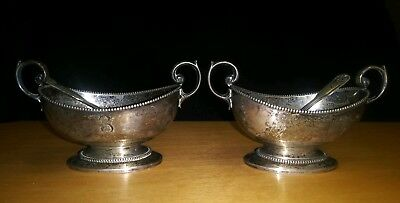 Antique Pair Of Sterling Silver Open Salts Rand & Crane