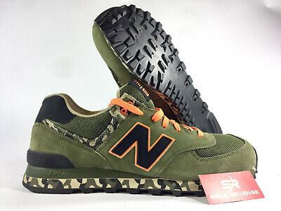 NEW BALANCE MEN'S 574 Camo Shoes Green with Yellow $44.00
