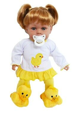 Spring Chick PJs Doll Clothes With Slippers Fits 15 Inch Bitty Baby Dolls