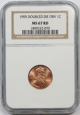 1995 DDO Doubled Die Obverse 1C NGC MS 67 RD Lincoln Penny