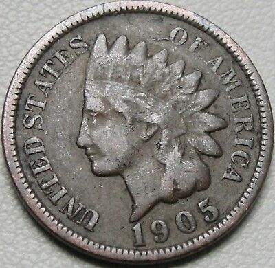 1905 1C Indian Cent, IHC, Indian Head Penny, Copper, #13239