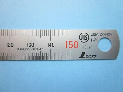 SHINWA 15cm Mini Ruler Metric Machinist Carpenter Scale Rule 13005 Japan