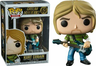 "Funko POP Rocks KURT COBAIN Nirvana Teen Spirit 4"" Figure #65 =FREE SHippiNG="