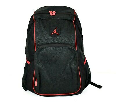 c6204f93a711f4 Nike Air Jordan Jumpman Backpack Laptop Sleeve with side pocket Black Red  9A1456