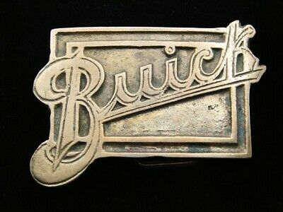 RD09145 VINTAGE 1970s **BUICK** CAR COMPANY LOGO SOLID BRASS BELT BUCKLE