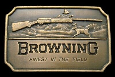 QK26141 *NOS* VINTAGE 1970s **BROWNING** RIFLES & SHOTGUNS FIREARM GUN BUCKLE