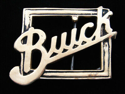 RD09156 VINTAGE 1970s **BUICK** CAR COMPANY LOGO SOLID BRASS BELT BUCKLE