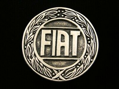 RD09144 VINTAGE 1970s **FIAT** CAR COMPANY LOGO SOLID BRASS BELT BUCKLE