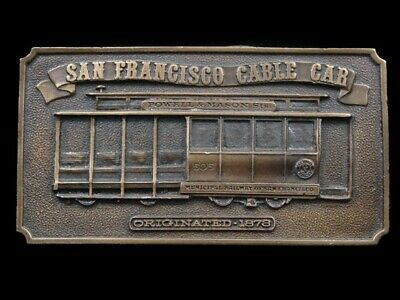 Rk03134 *Nos* Vintage 1976 **San Francisco Cable Car** Commemorative Belt Buckle