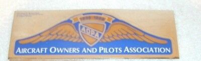 "AOPA Aircraft Owners and Pilots Association Blue Gold Sticker Foil 6 1/4"" x 2"""