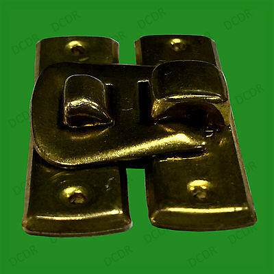1x Mini Thumb Size Brass Latch, Cigar Jewellery Box Toggle Catch, Antique Style