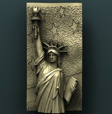 3d STL Model Relief for CNC Router Aspire _ (0508) Liberty