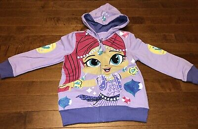 Shimmer and Shine Toddler Girl Jacket Hoodie Featuring Shimmer New 3T
