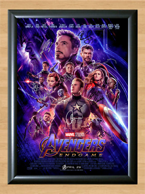 Avengers: Endgame Marvel Cast Signed Autographed A4 Poster Photo Memorabilia dvd