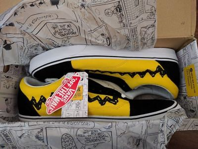 VANS X PEANUTS Old Skool Black Canvas Skateboard Sneaker Men