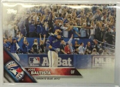 2016 Topps Baseball #96 Jose Bautista BAT FLIP card Toronto Blue Jays MINT MLB