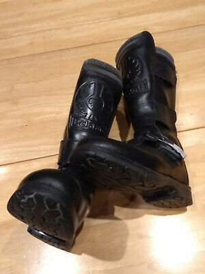 Belstaff motorcycle boots. size 8. black. leather.