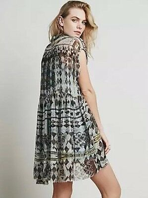 30809f8242950a NWT Sz M-L Free People Extreme Dress Tunic in Charcoal Raw Edges Oversized  Boxy