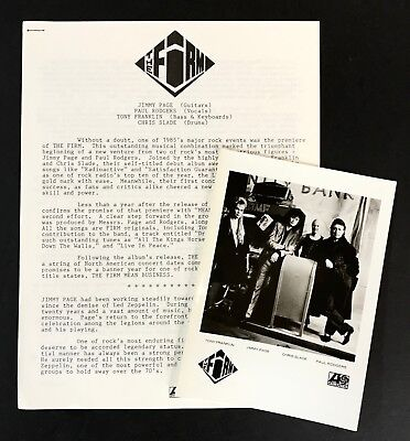 THE FIRM Mean Business ORIGINAL PRESS KIT 1986 w/PHOTO Jimmy Page Led Zeppelin