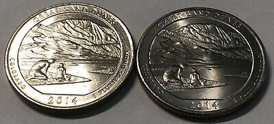 2014 Great Sand Dunes P and D 2 Coin Washington Quarters Set In AU Condition