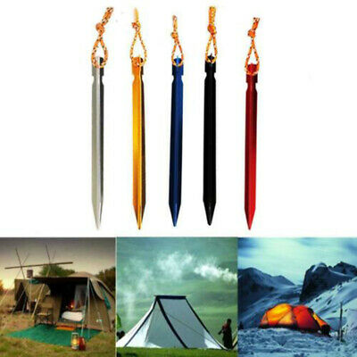 4PCS/LOT 18cm Aluminum Alloy Outdoor Camping Trip Tent Peg Ground Nail Stakes