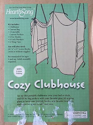 NIB Heart Song, Cozy Kids Clubhouse, Portable,   Bedroom,Tent, Playroom, Boy