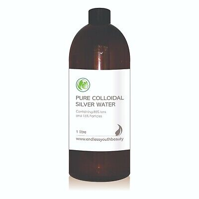 Colloidal Silver Water 85% Ions 15% Particles 15ppm 250 ml to 1 Litre Aust Made