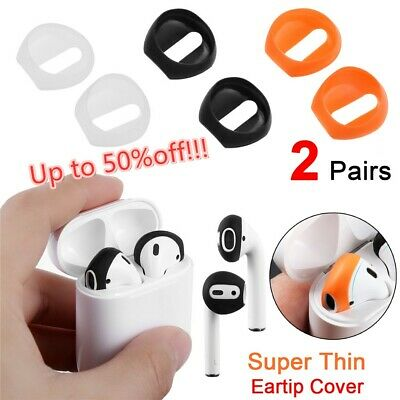 Anti Slip Earbud Silicone Case Cover Earphone Tips For Apple AirPods Earpods ~