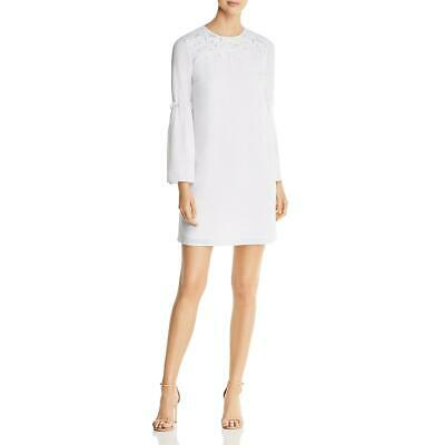 4999c42c4 MICHAEL Michael Kors Womens White Bell Sleeve Mini Party Dress XS BHFO 8224