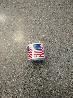 1 Coil / 100 Stamps USPS Forever 1st Class Postage US Flag 2018 - Sealed Roll -