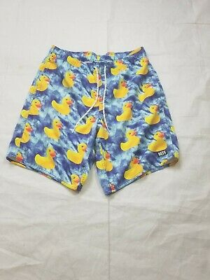 80b0e989ac NEFF DAILY HOT Tub Shorts, Ducky Print, Aqua/Blue Water - HTF, NWOT ...