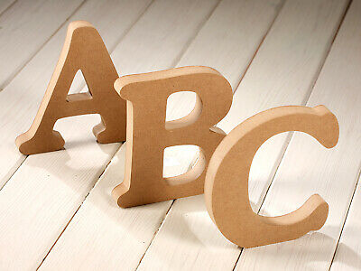 WOODEN MDF LETTERS Free Standing CRAFTS Large 15cm 20cm 30cm Numbers Cooperplate