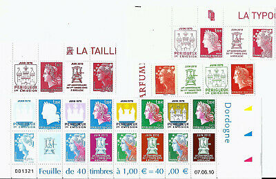 Bande Helio Timbres Poste N°4465 A 4472 Impression Helio (2010) Neufs