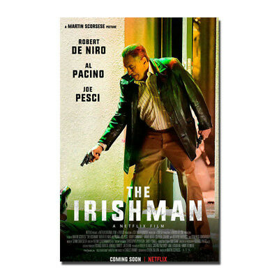 The Irishman Martin Scorsese Robert Movie Silk Poster 13x20 inch