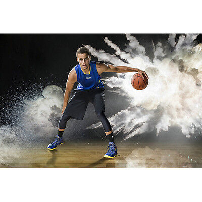 Stephen Curry  Warriors Basketball MVP Silk Poster 13x20 24x36inch Art Pint 008
