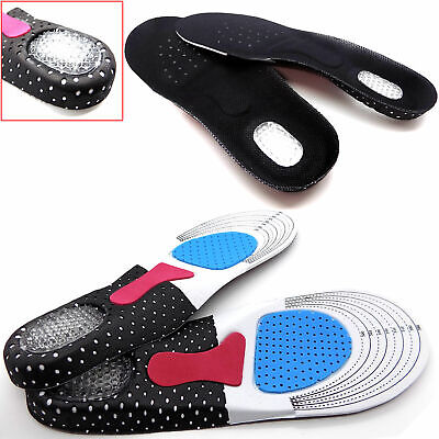 Unisex Gel Orthotic Sport Plantar Fasciitis Insoles Insert Shoe Pad Arch Support